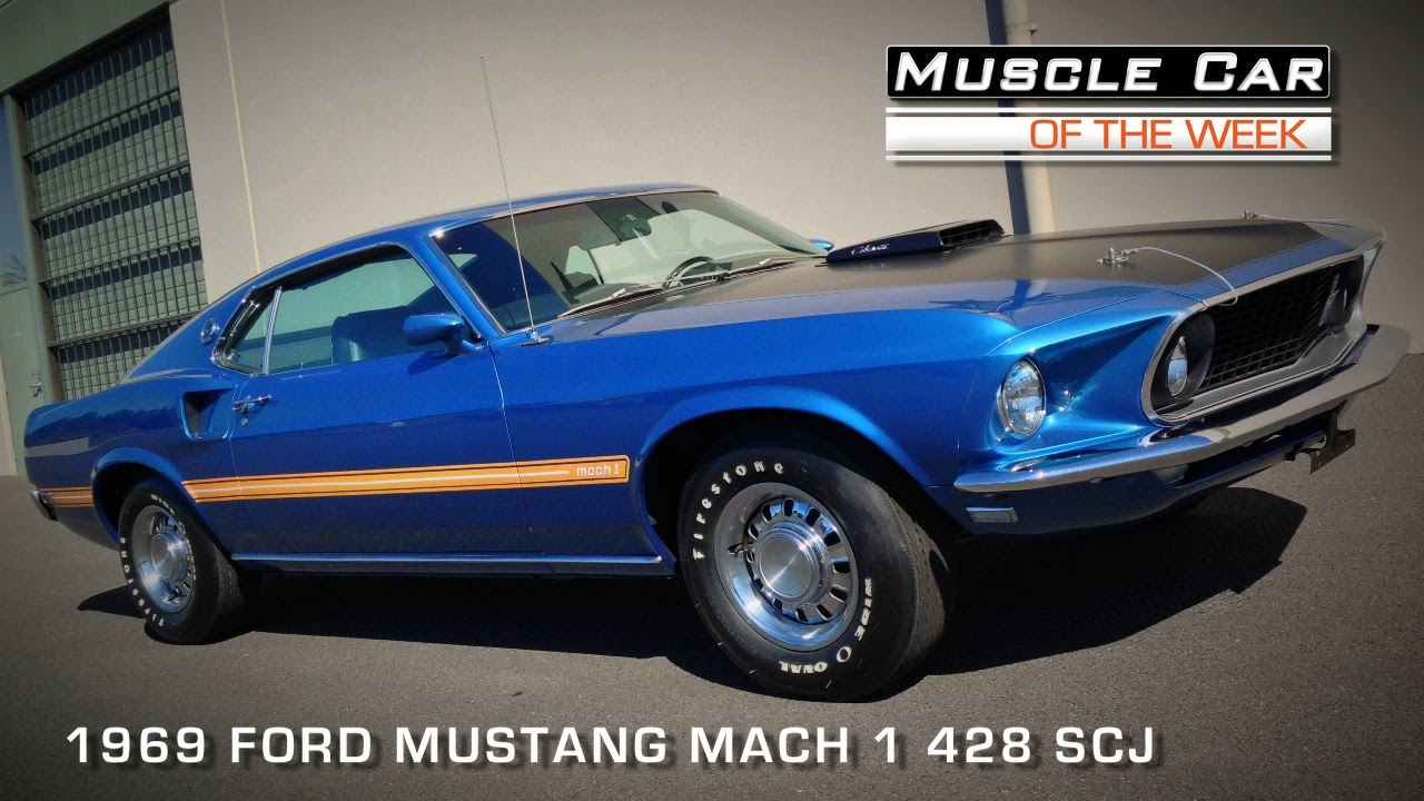 Muscle car of the week video episode 91 1969 ford mustang mach 1 428 super cobra jet youtube