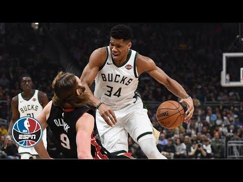 Giannis Antetokounmpo's triple-double leads Milwaukee Bucks' charge vs. Miami Heat | NBA Highlights