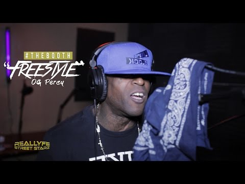 CRIP VS BLOOD BATTLE RAP OG Percy Freestyle [#TheBooth]