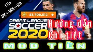 [ Hack Dream League Soccer 2020 ] Hướng dẫn chi tiết (apk+data+obb) hack tiền mới nhất v6.13 | DLS20