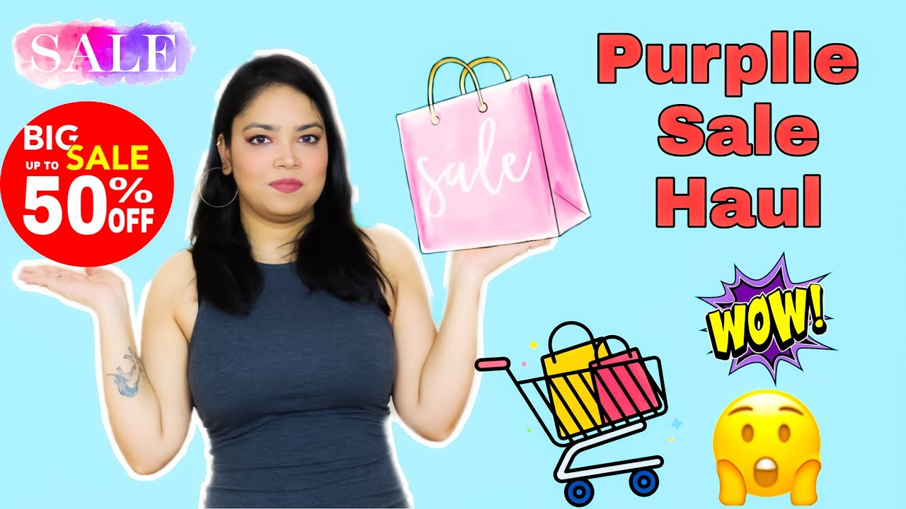 Affordable Skincare & Makeup HAUL | HUGE Purplle I  ❤️️ SALE Upto 50% OFF | Anku Sharma
