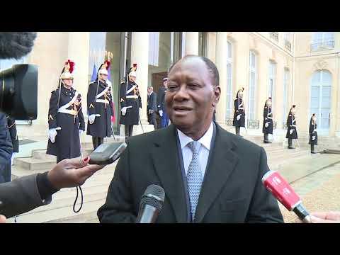 Le Président Alassane OUATTARA  reçu par le Président français Emmanuel MACRON