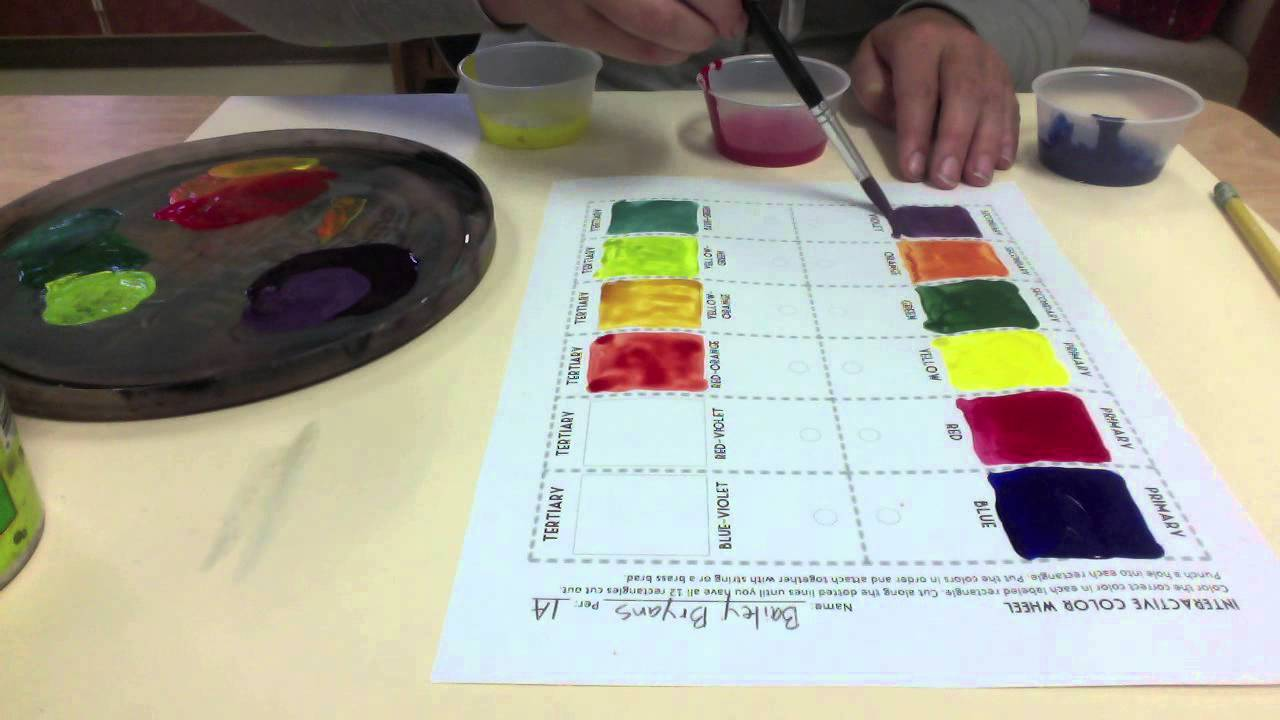 Mixing Colors With Tempera Paint