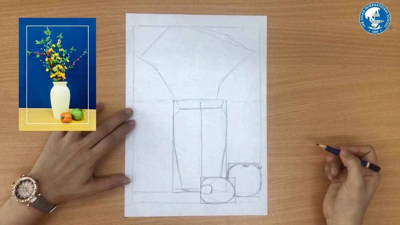 Vẽ theo mẫu: Xé dán tĩnh vật lọ và quả – GV: Hồ Mỹ Phương I Mỹ thuật 8
