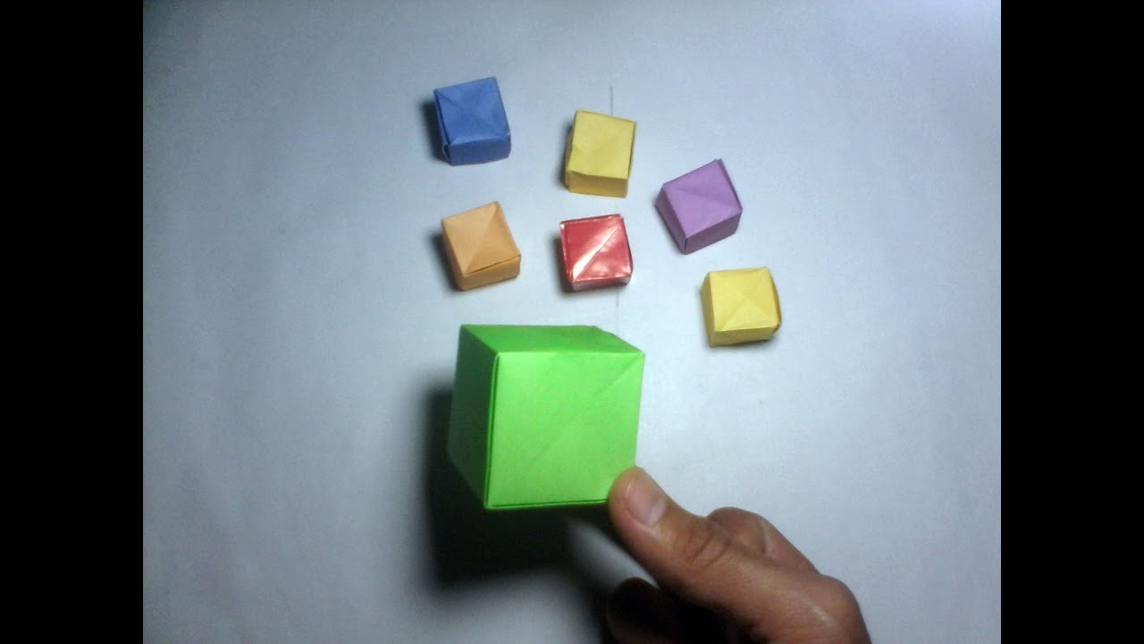 Easy way to make cube rubiks with one paper cube origami youtube easy way to make cube rubiks with one paper cube origami jeuxipadfo Image collections