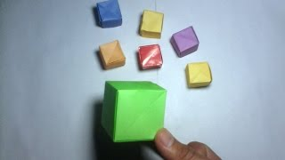 Easy Way To Make Cube (Rubiks) With One Paper - Cube Origami