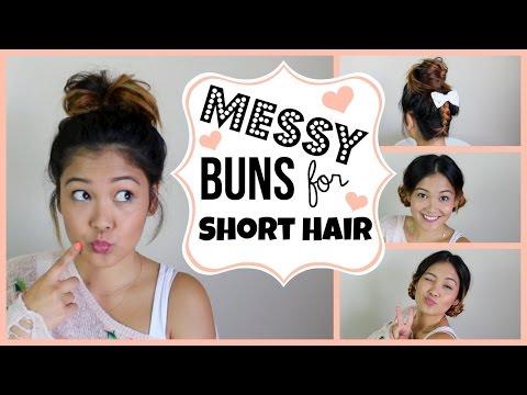Messy Buns For Short Hair