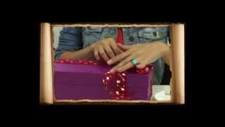 Подарочная упаковка из коробки для обуви
