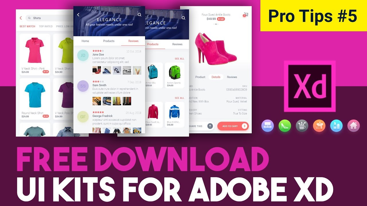 FREE Adobe XD UI kits and templates | Download adobe XD free ui kits