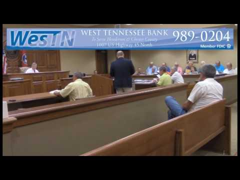 Chester County Commission Meeting 07-25-16