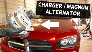 DODGE CHARGER ALTERNATOR REPLACEMENT REMOVAL | DODGE MAGNUM