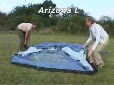 & How to pitch the Outwell Arizona L tent - YouTube