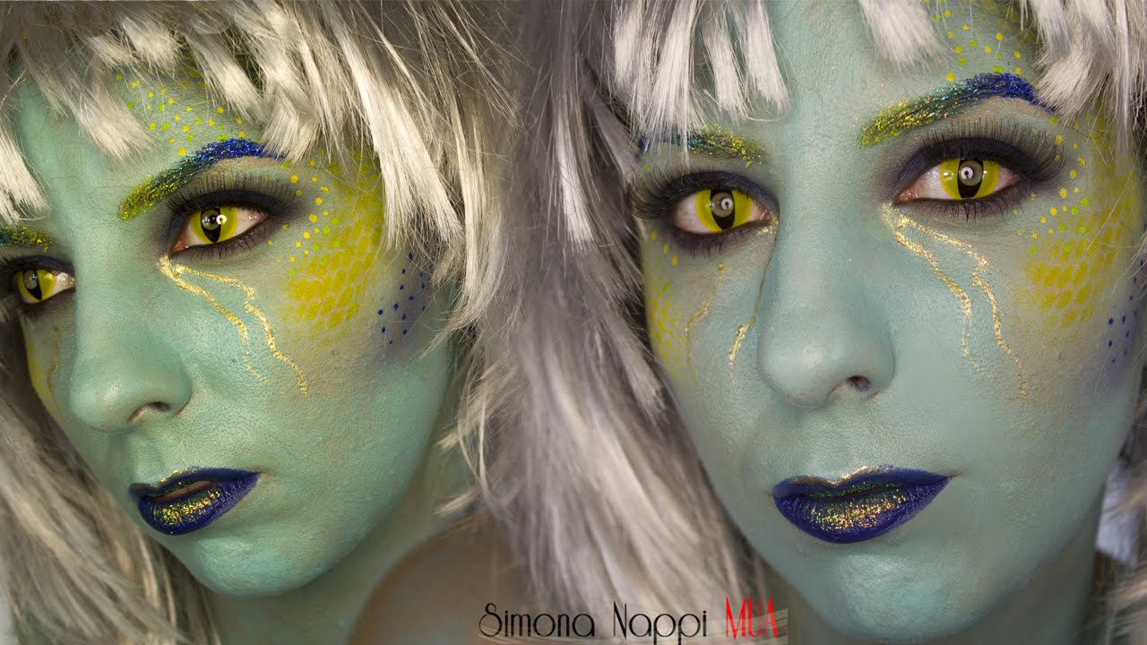 Sea witch halloween makeup tutorial youtube sea witch halloween makeup tutorial baditri Images