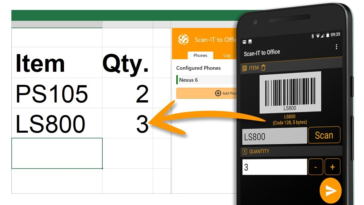 Barcode Scanner App for Data Collection with Word, Excel, Google Sheets &  Chrome
