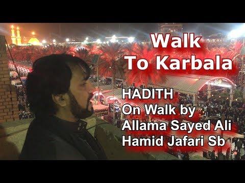 #Walk #to #Karbala #HADITH #On Walk - Allama Sayed Ali Hamid Jafari Sb 1440/2018