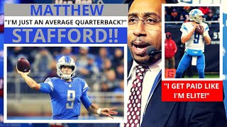 Matthew Stafford (Detroit Lions) An Overrated Quarterback? ESPN First Take - Stephen/Max[Commentary]