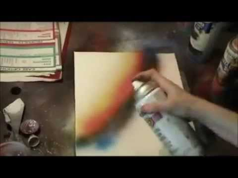 Spray Paint Art Techniques Spray Painting Lessons Youtube