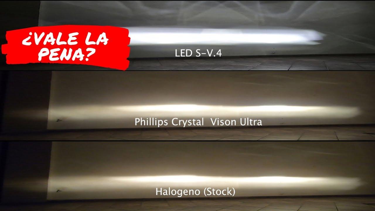 NUEVAS LUCES LED PARA LA SILVERADO | HALOGENO VS CRYSTAL VISION VS LED