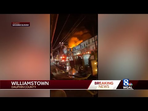 Crews battle overnight fire in Williamstown