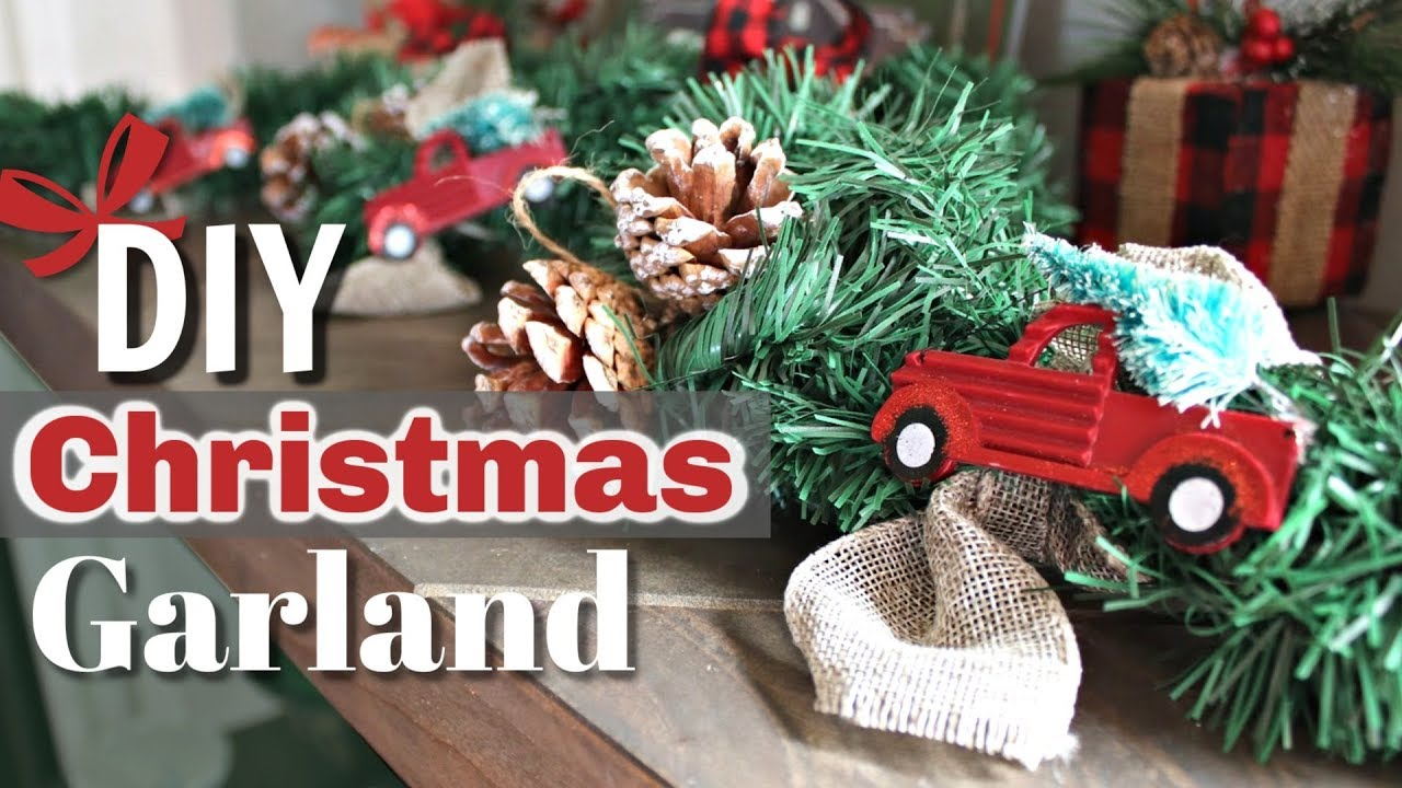 diy rustic christmas decor red truck christmas decor diy diy christmas garland kraftsbykatelyn