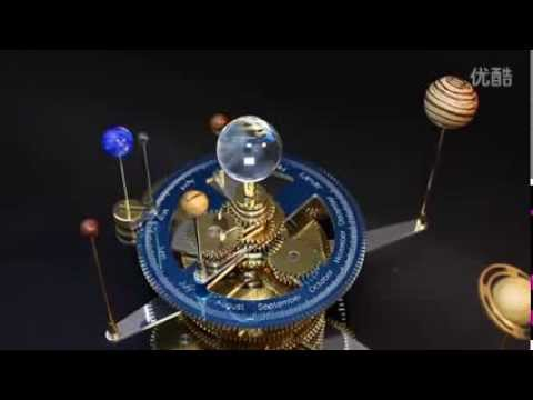Rotating Solar System Mechanical Sculptures Youtube