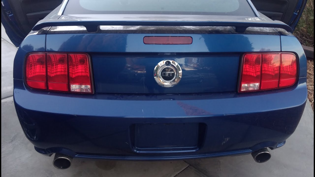 2005 2009 ford mustang rear bumper removal youtube