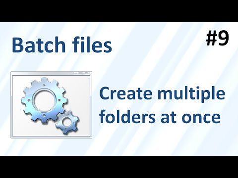 How to create multiple folders at once using a batch file