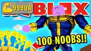 NOOB DISGUISE TROLLING 100 NOOBS WITH *MAX* SIZE THANOS!! PRETENDING TO BE NOOB THEN REVEALING SIZE!