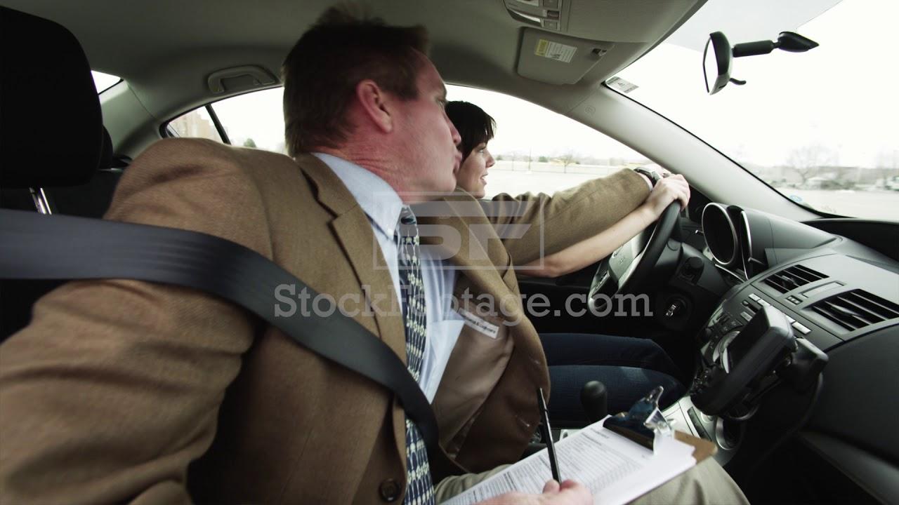 Girl (16-17) Taking Driving Test Instructor Grabbing Steering Wheel -  YouTube