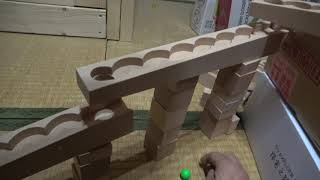 Marble Run ASMR ☆ Wooden undulation course made by a Japanese carpenter