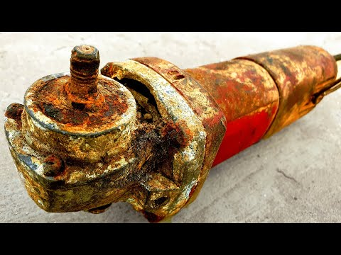 RESTORATION The Most Destroyed & Rusty Angle Grinder You Never Seen Before - Kinda IMPOSSIBLE Repair