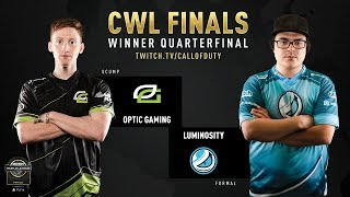 OpTic Gaming vs Luminosity | CWL Finals 2019 | Day 2