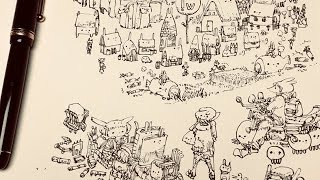 [LIVE] めんこい集落をお絵かきします