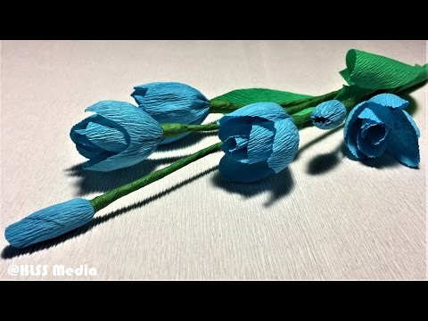 How to make flower with crepe paper |diy origami paper flower making step by step| paper crafts