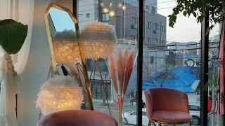 Korean cafe vlog 꽃이 가득~~ 꽃밭같은 …