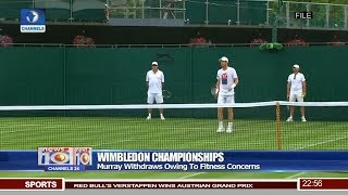 Murray Withdraws From Wimbledon Championships Pt 4 | News@10 | 07/01/18
