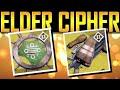 Destiny - MY FIRST ELDER CIPHER!