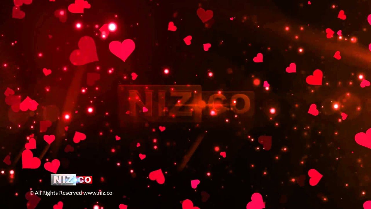 Falling Stars Gif Wallpaper Flying Hearts Royalty Free Background Loop Hd 1080p