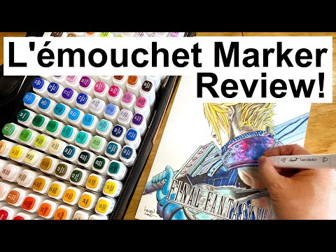 Great COPIC MARKERS alternative! L'émouchet Twin Marker Pens! A Cheaper Alcohol Based Art Markers