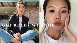 Casual Afternoon Brunch | GRWM Makeup to Outfit