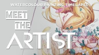 Meet the Artist! Hello! || Flow || Watercolor Painting Process / Timelapse