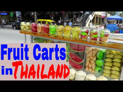 Street Fruit Carts in Thailand