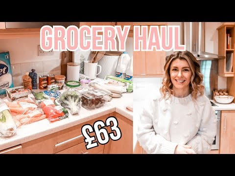 WEEKLY FOOD SHOP AND MEAL PLAN FOR FAMILY OF 3 | GROCERY HAUL FEBRUARY 2020