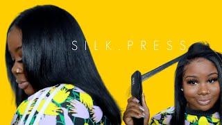 Natural Hair Update !! NO RELAXER + Easy Silk Press   #KosaProfessionals