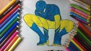 enfants de couleur 33 - bleu Spiderman - La chaîne pour enfants
