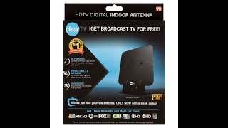 Clear TV HD Indoor Antenna Unboxing