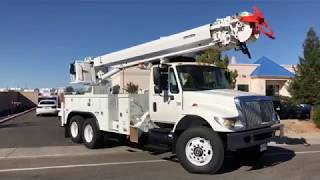 2005 International 7400 Altec D3055/TR Digger Derrick For Sale