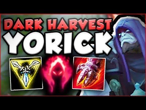 WTF!? ONE DARK HARVEST YORICK Q DOES HOW MUCH DMG?! DARK HARVEST YORICK SEASON 8! League of Legends