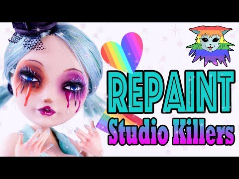Pride Collab 🏳️‍🌈 Repaint Studio Killers Cherry custom doll Ever After High Cupid