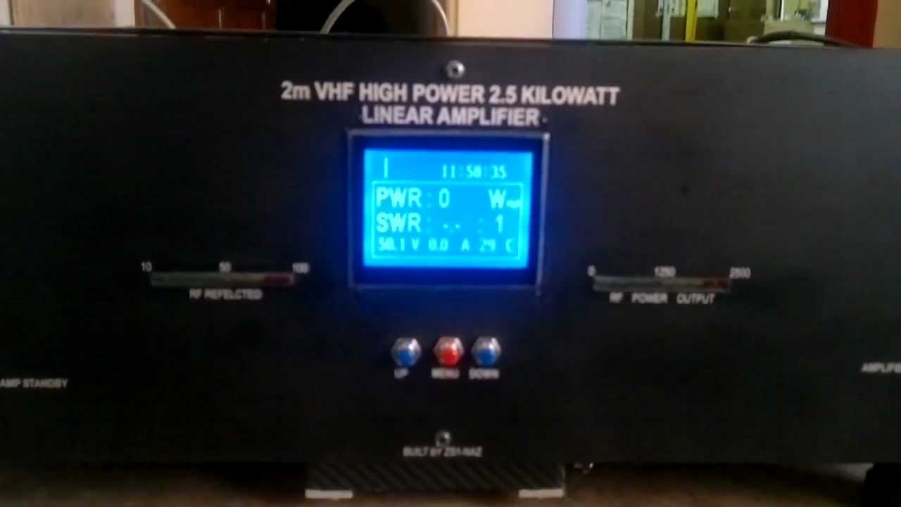 Zs1nazs 2m Vhf 144 146 Mhz 25 Kw Eme High Power Homebrew Linear Amplifier With 30 Watts Youtube